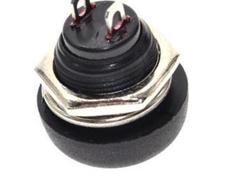 PBS33B drukknop wit terugverend maakcontact