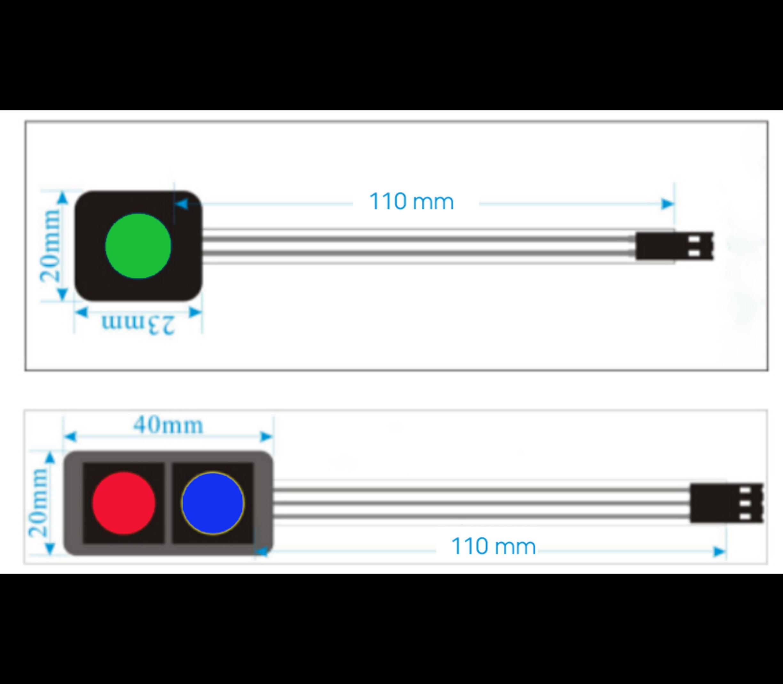 Button membraan  pad 2 x button