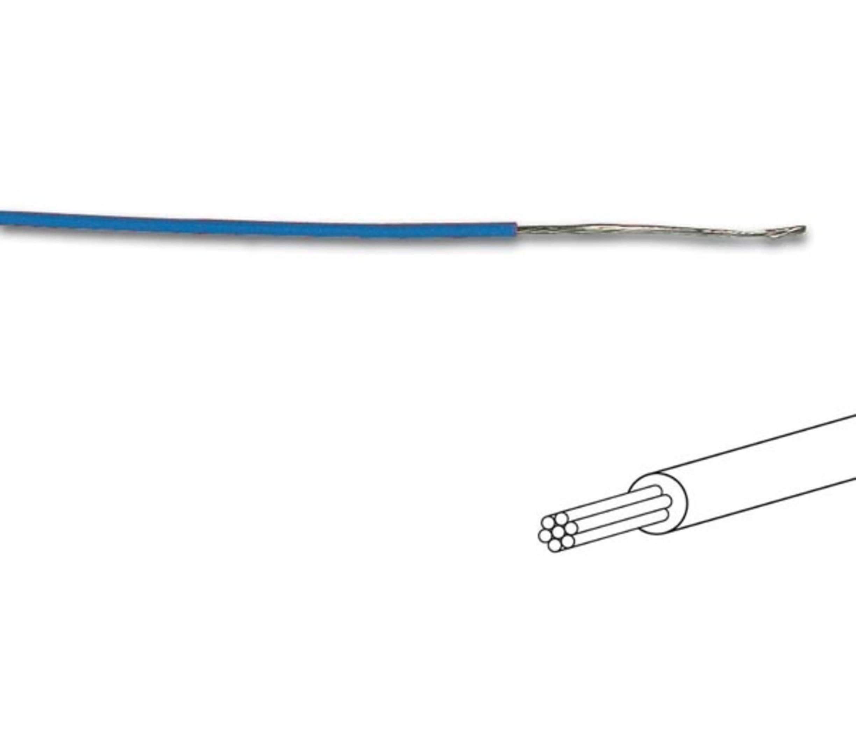 MONTAGEDRAAD Blauw 0.2 mm² - Soepele kern 100 mtr rol