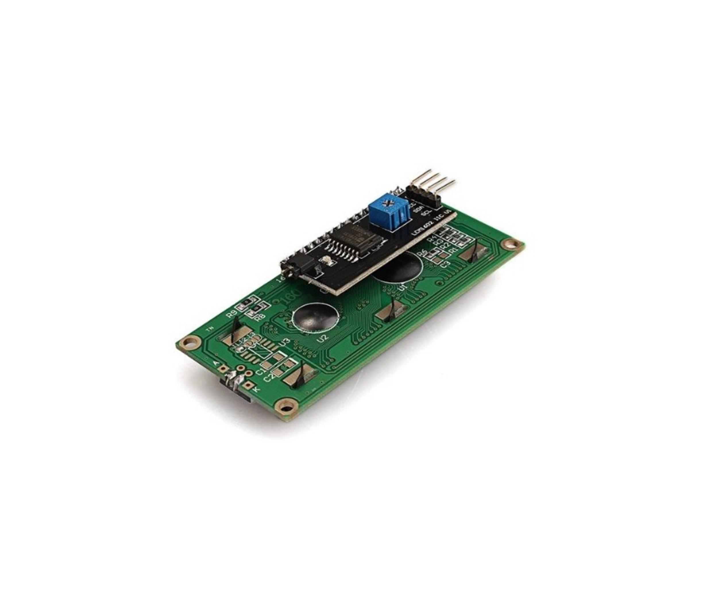 16 x 2 HD44780 LCD + gemonteerde I2C adaptor module