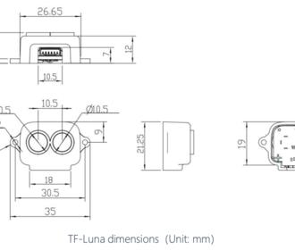 TF Luna Lidar sensor