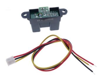 Optische sensor Sharp 2Y0A02 afstand sensor