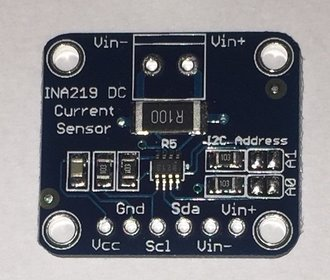 INA219 vermogens sensor I2C