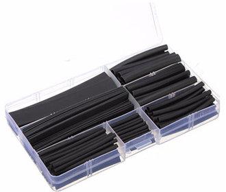 Krimpkous set in kunststof box 150 stuks zwart