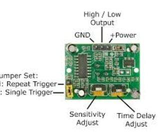HC-SR501 pir bewegingsmodule