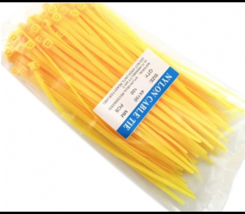 Tyraps ty-raps geel 3,6 x 150mm 100stuks