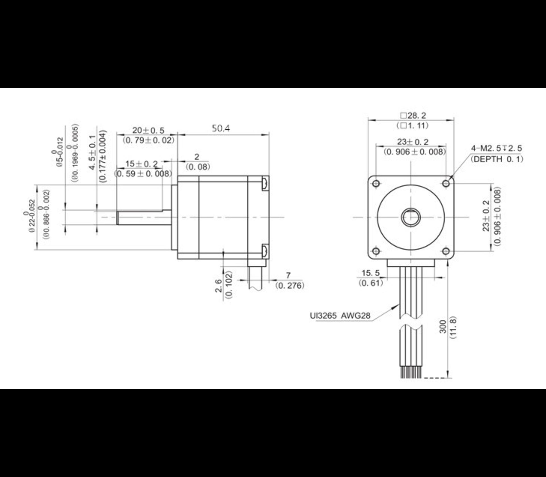 Nema 8 stappen motor 1.8 garden per step