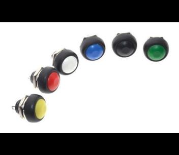 PBS1-11A drukknop zwart vasthoudend maakcontact