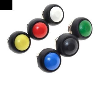 PBS1-11A drukknop rood vasthoudend maakcontact