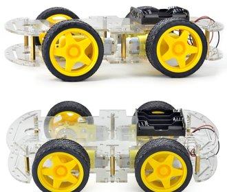 Robot auto chassis platform 4wd zwart