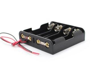 Batterij houder 4 x AA batterij