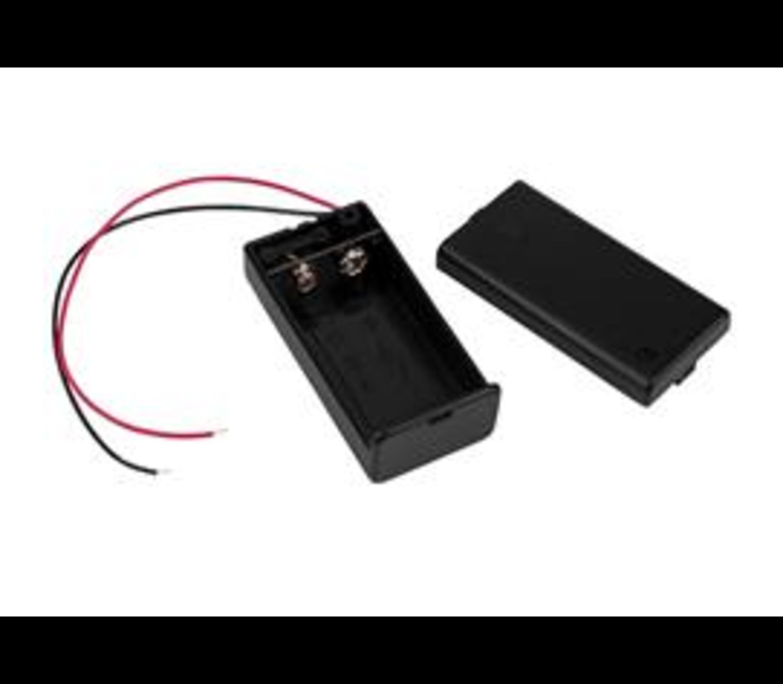 Batterij houder 9v gesloten behuizing