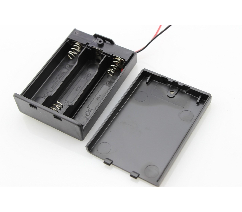 Gesloten batterij houder 3xAA met Schakelaar