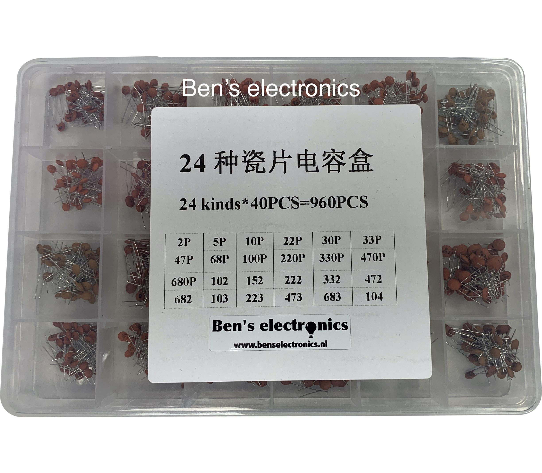 Keramische condensatoren 960 stuks 24 types set