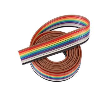 Lint flat kabel 10 draads per 1 meter awg28