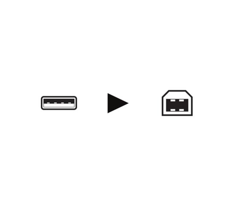USB 2.0 A-PLUG NAAR USB 2.0 B-PLUG
