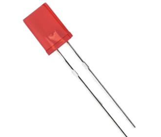 Led diffuus rechthoekig rood