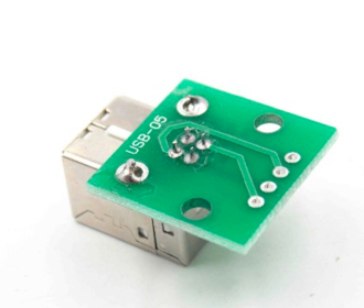 USB type B female breakout