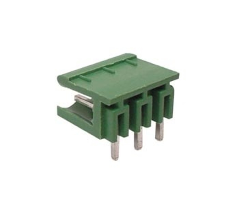 Terminal connector 3 polig haaks