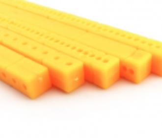 Kunststof profiel geel