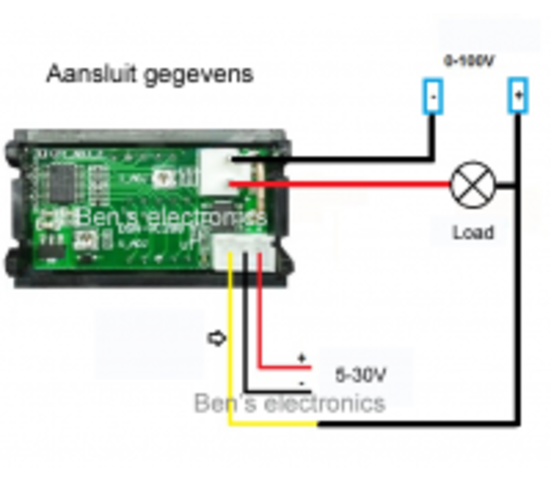 Digitale volt ampere meter voor paneel inbouw