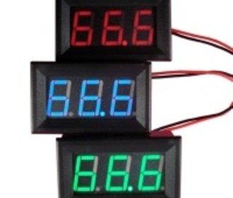 Digitale voltmeter voor paneel 3 tot 30 v Groen