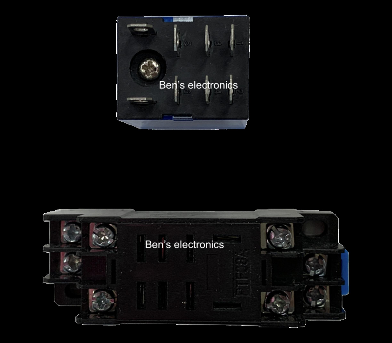 12v relais LY2N-J inclusief steekvoet