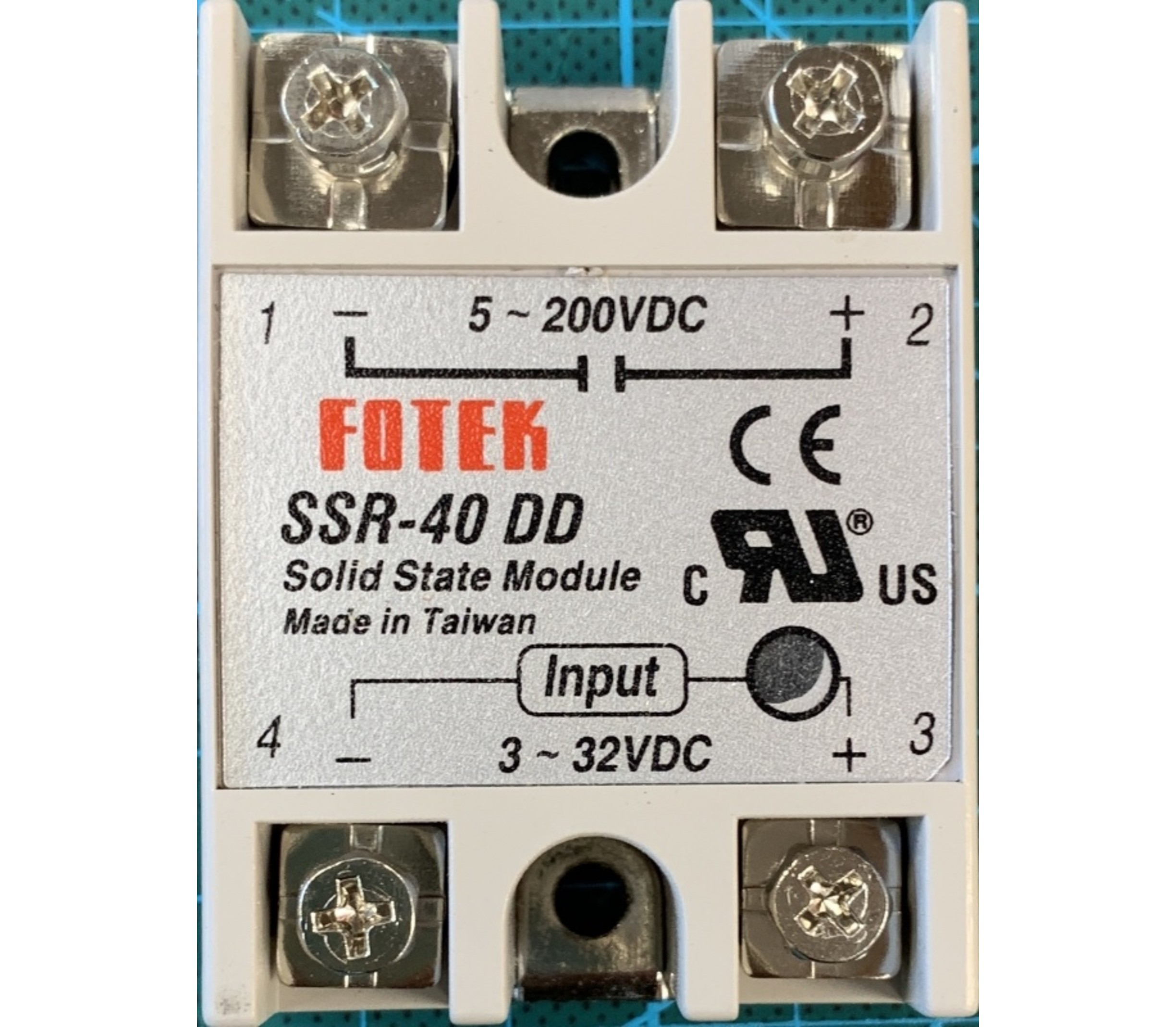 Solid state relais 40A SSR DC-DC schakelspanning 5-200V
