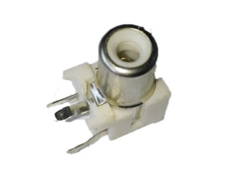 RCA tulp print connector wit
