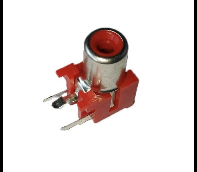 RCA tulp print connector rood