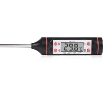 Rvs temperatuur probe pen met  lcd