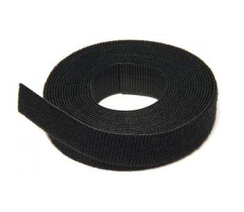 klittenband 12,7 mm zwart rol  22,9 m
