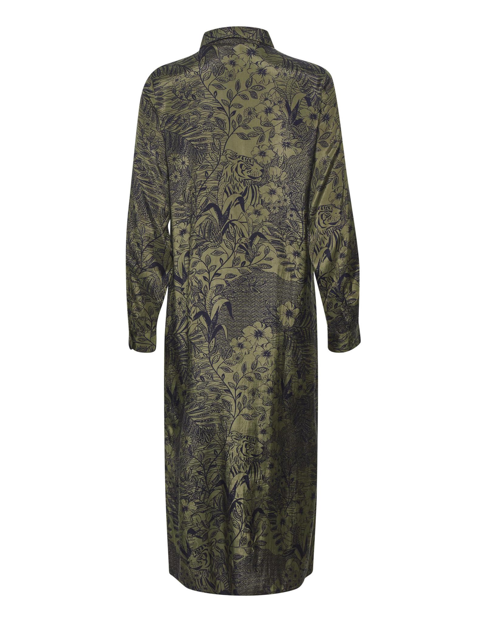 Kaffe Kaffe KAmonna shirt dress - Grape leaf flower 10504453