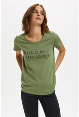 Kaffe Kaffe Black T-Shirt Olivine/Black Tex 10502370
