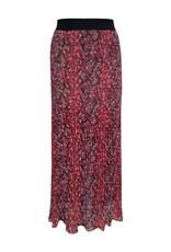 Elvira Elvira Skirt Elke Plisse E4 20-028 Wine red snake