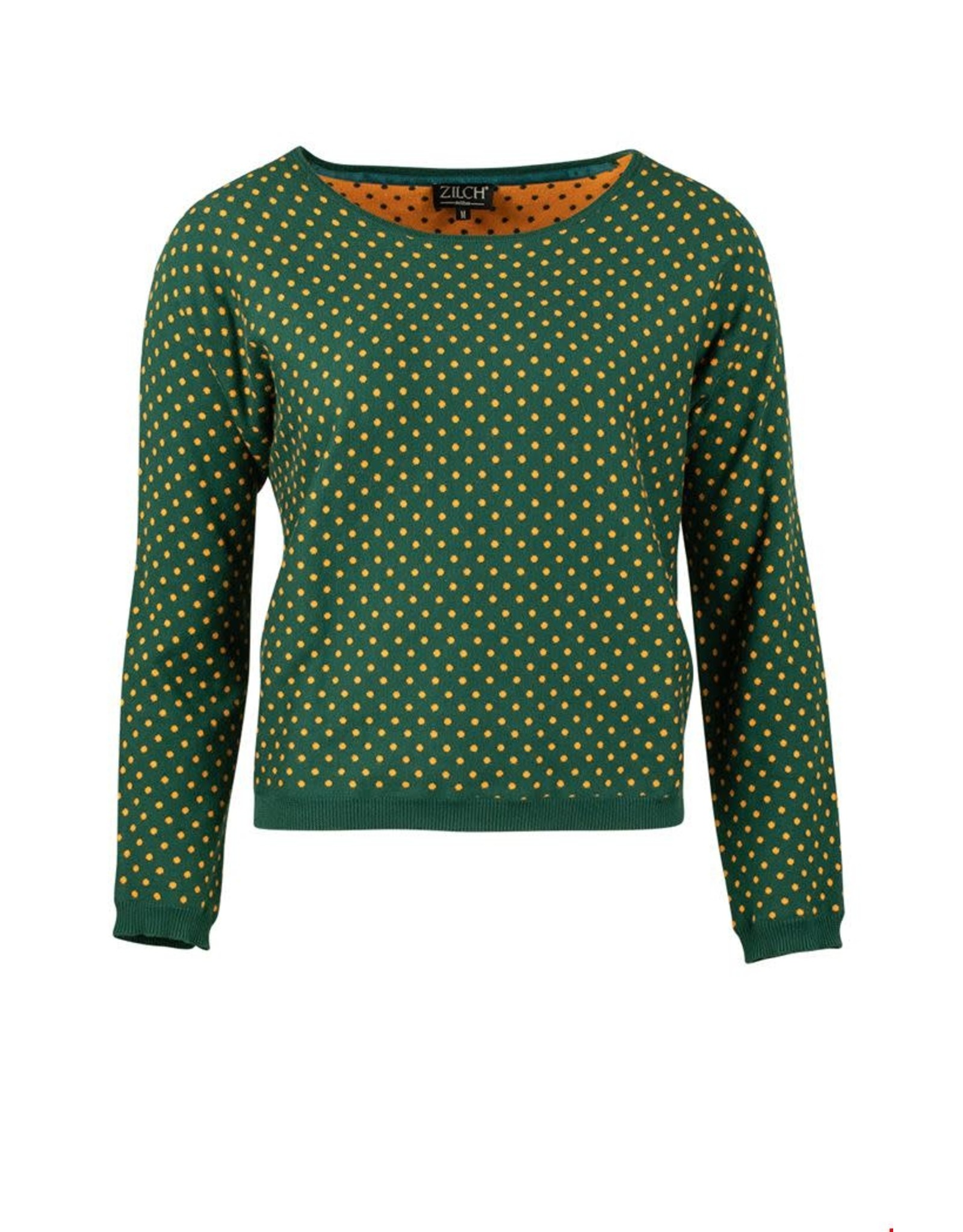 zilch Zilch sweater 02COTJ30.050 Dots forest 807