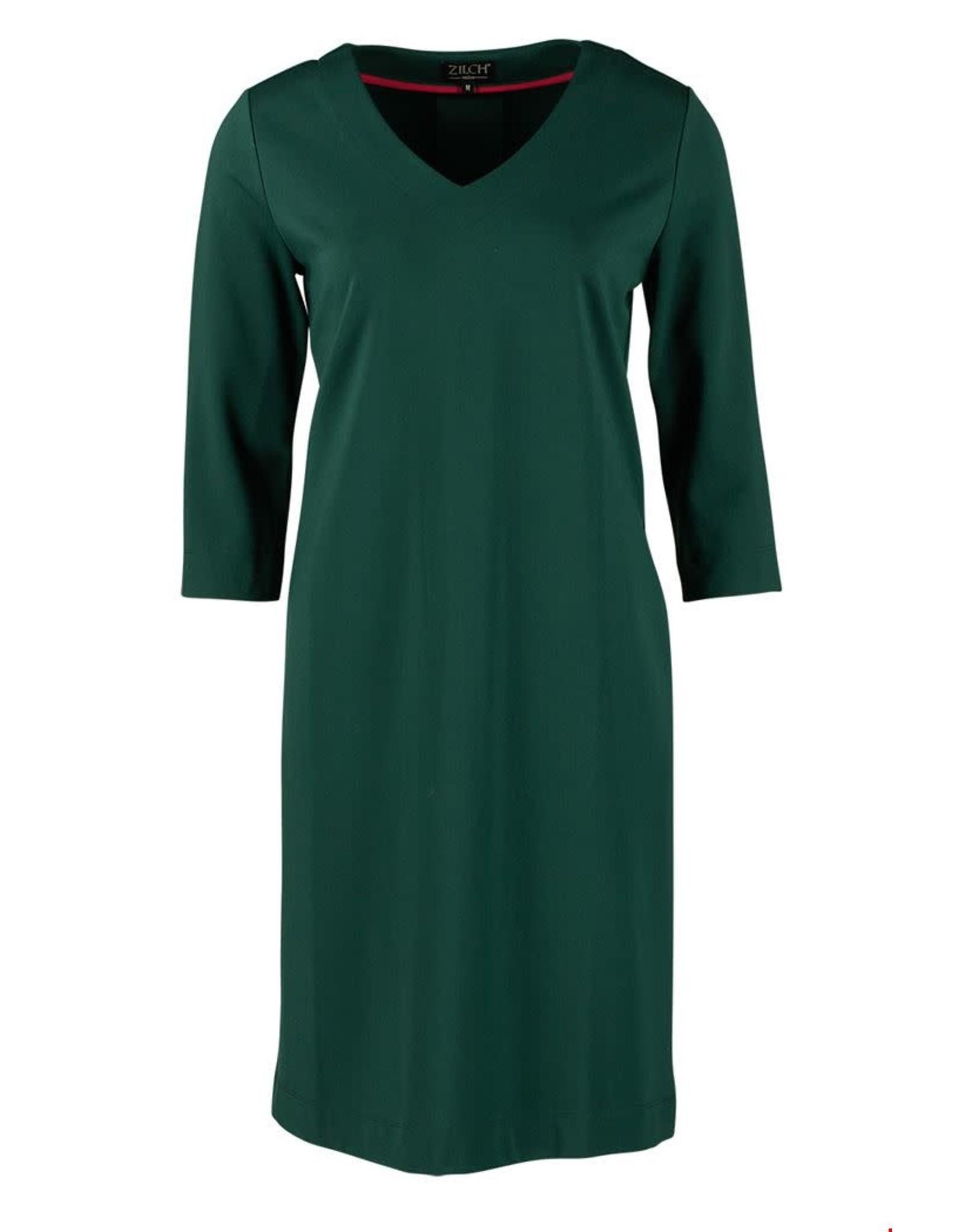 zilch Zilch dress v-neck 02VIN40.132 Forest 008