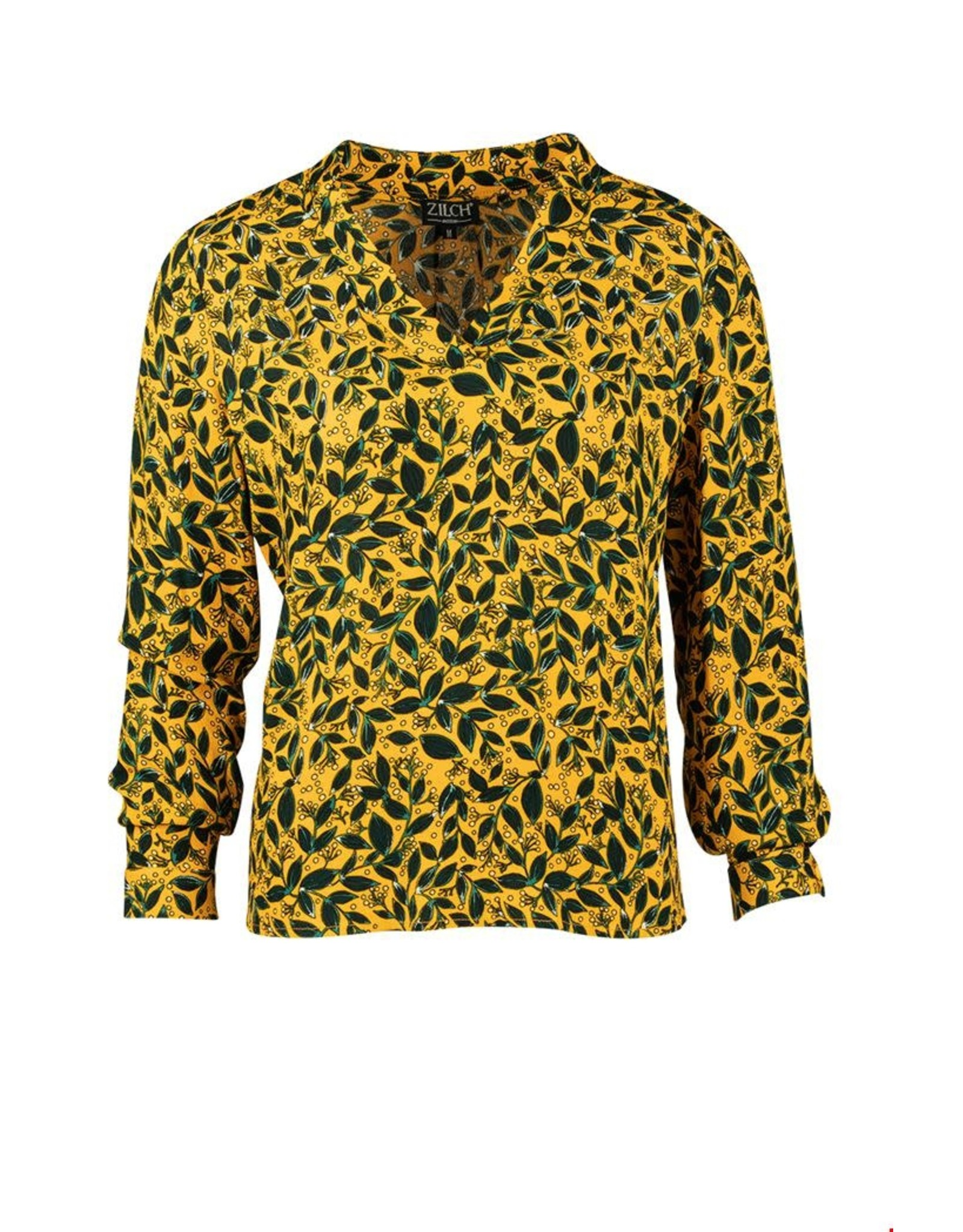 zilch Zilch top v-neck 02RAC10.098P Leaves Sunset 912
