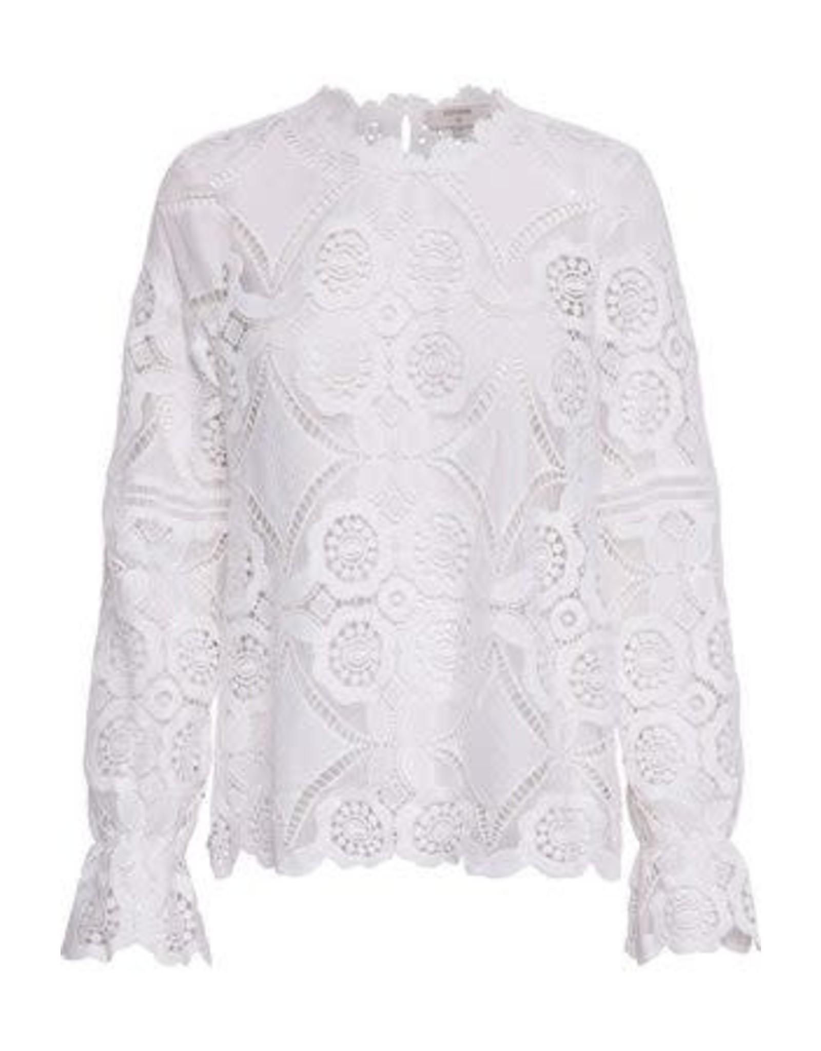 Cream Cream Emma blouse 60034 Chalk