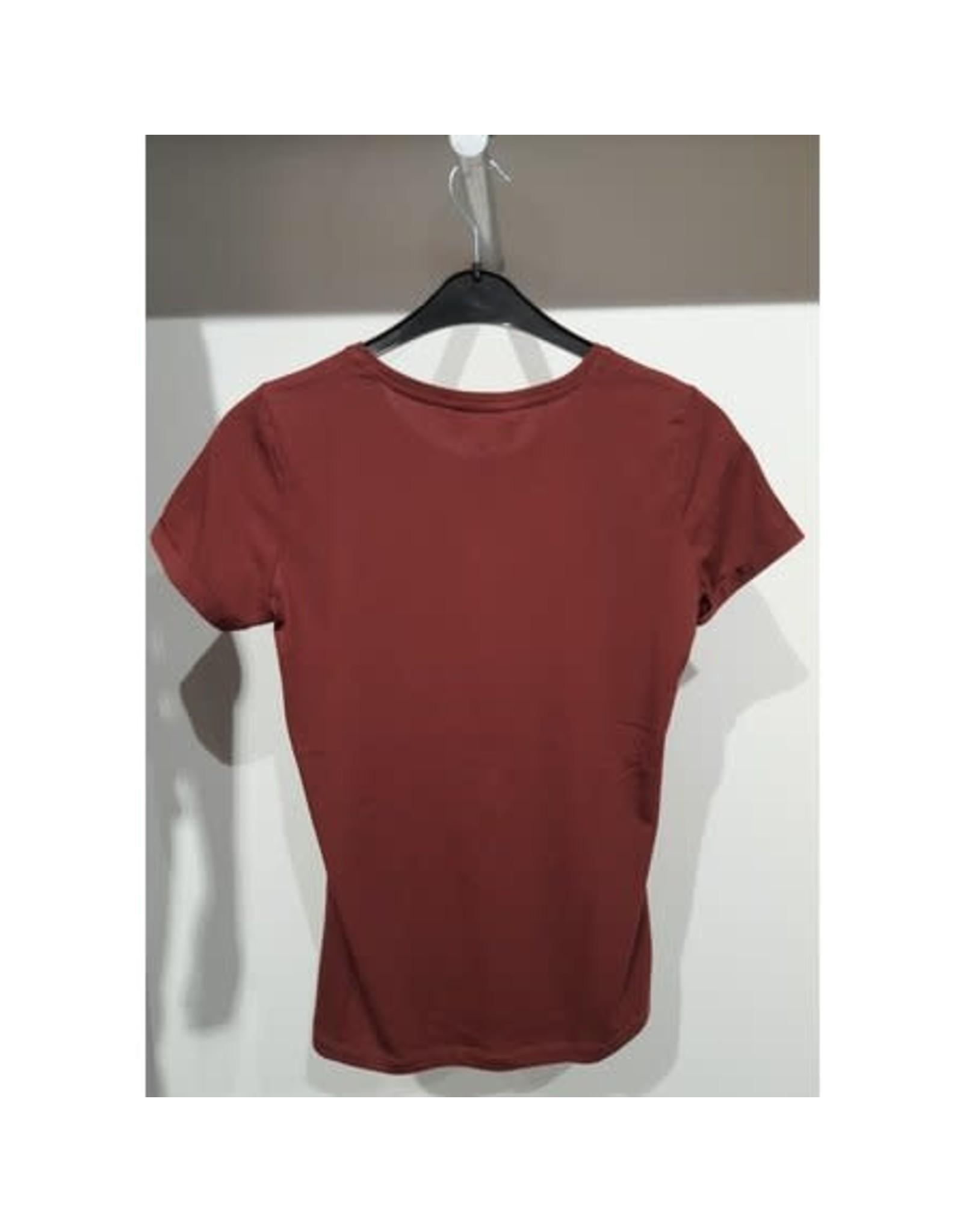 Elvira Elvira T-shirt tiger E4 20-047 Cognac