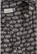 Kaffe Kaffe KAeva tilly blouse 10504993 black woodsmoke fan print