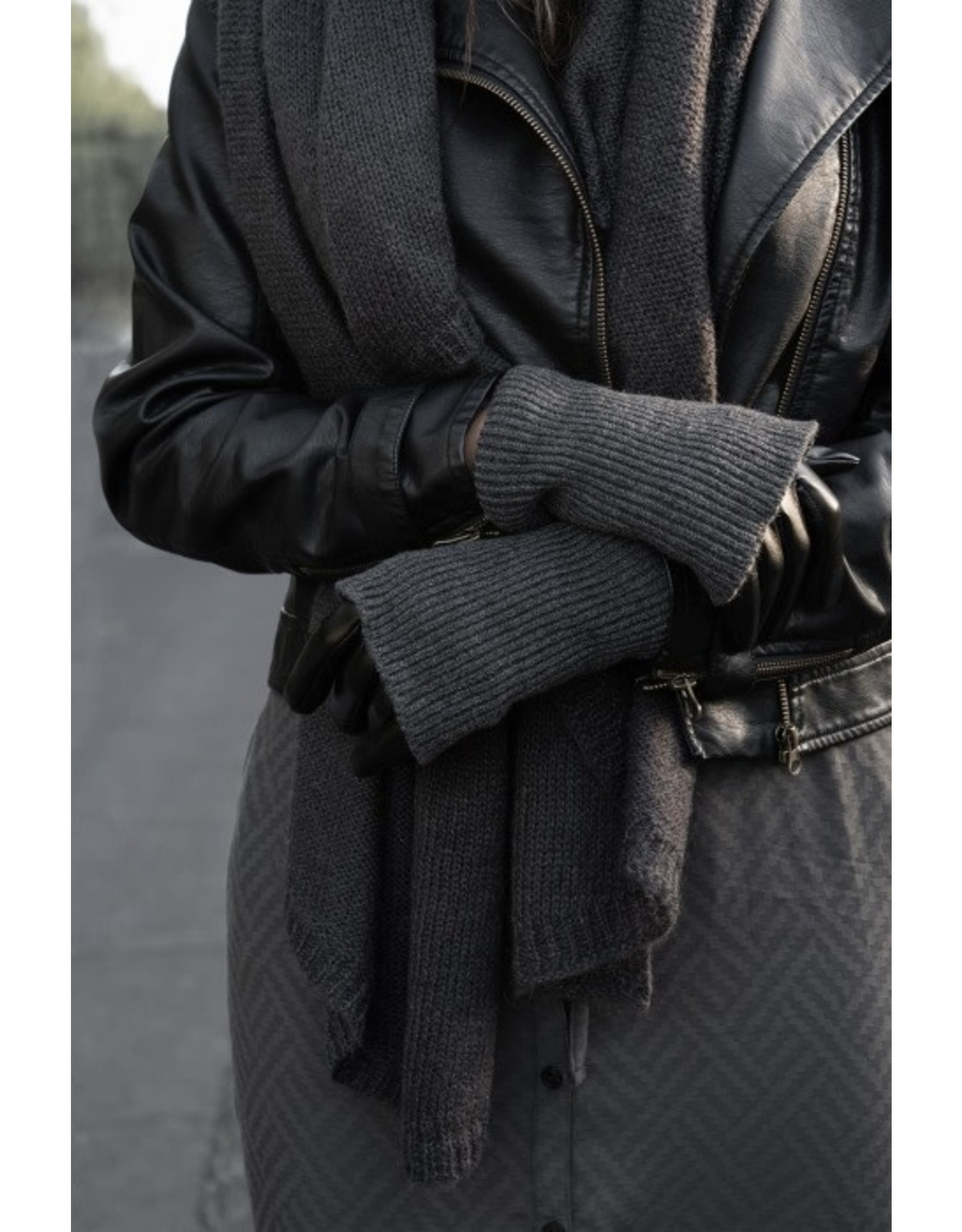 Zusss Zusss Stoere Handschoen Zwart/Grafiet