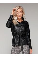 Rebelz REB 1844 Jacket Steffie Leatherlook Zwart