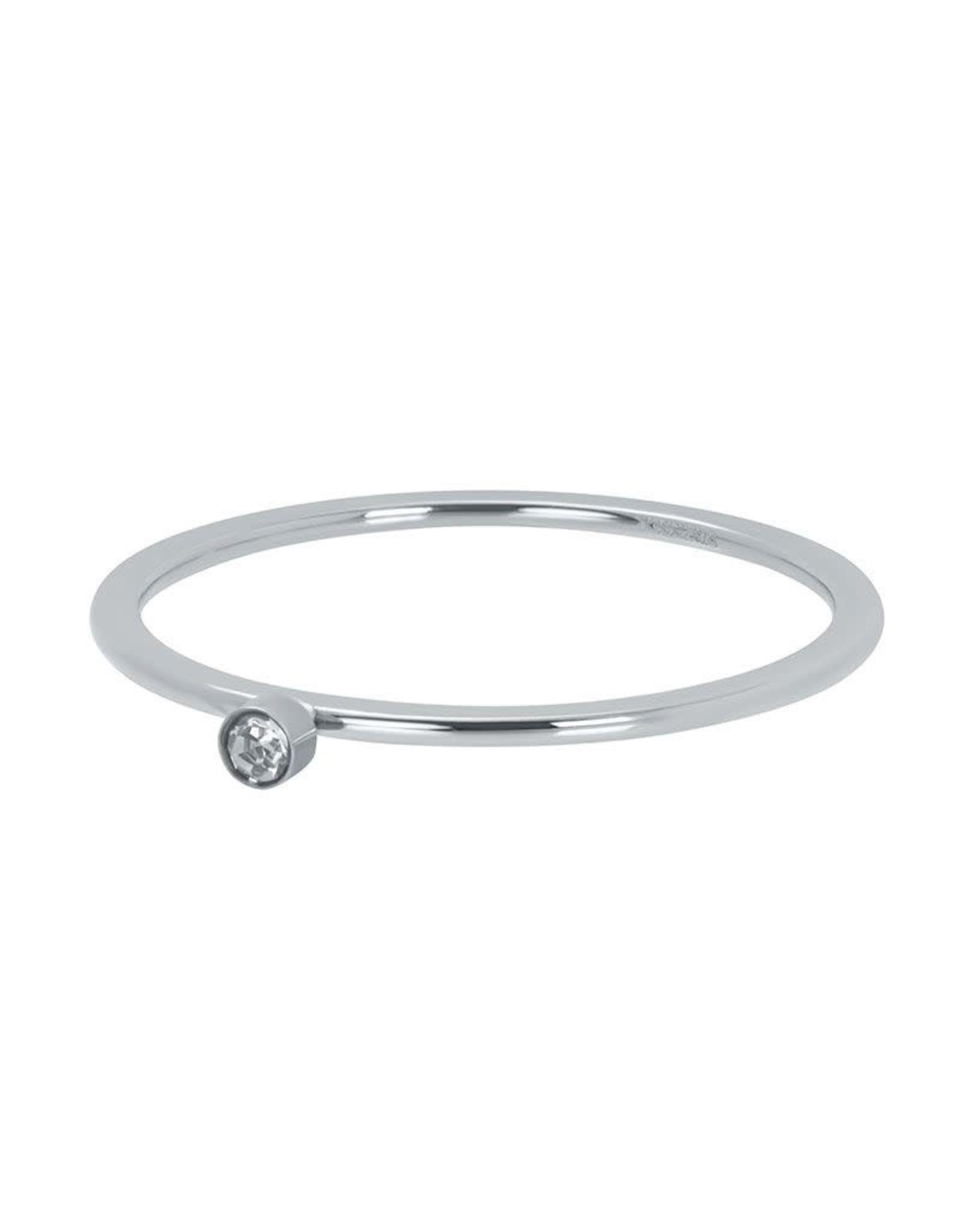 IXXXI IXXXI Zirconia 1 Stone Crystal ring Silver