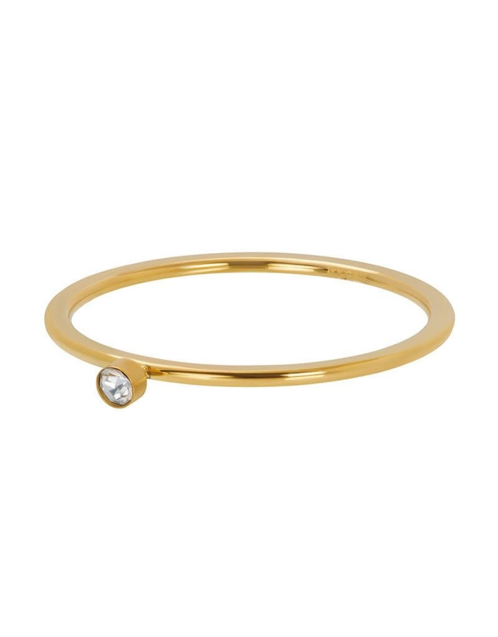 IXXXI IXXXI Zirconia 1 Stone Crystal ring Gold