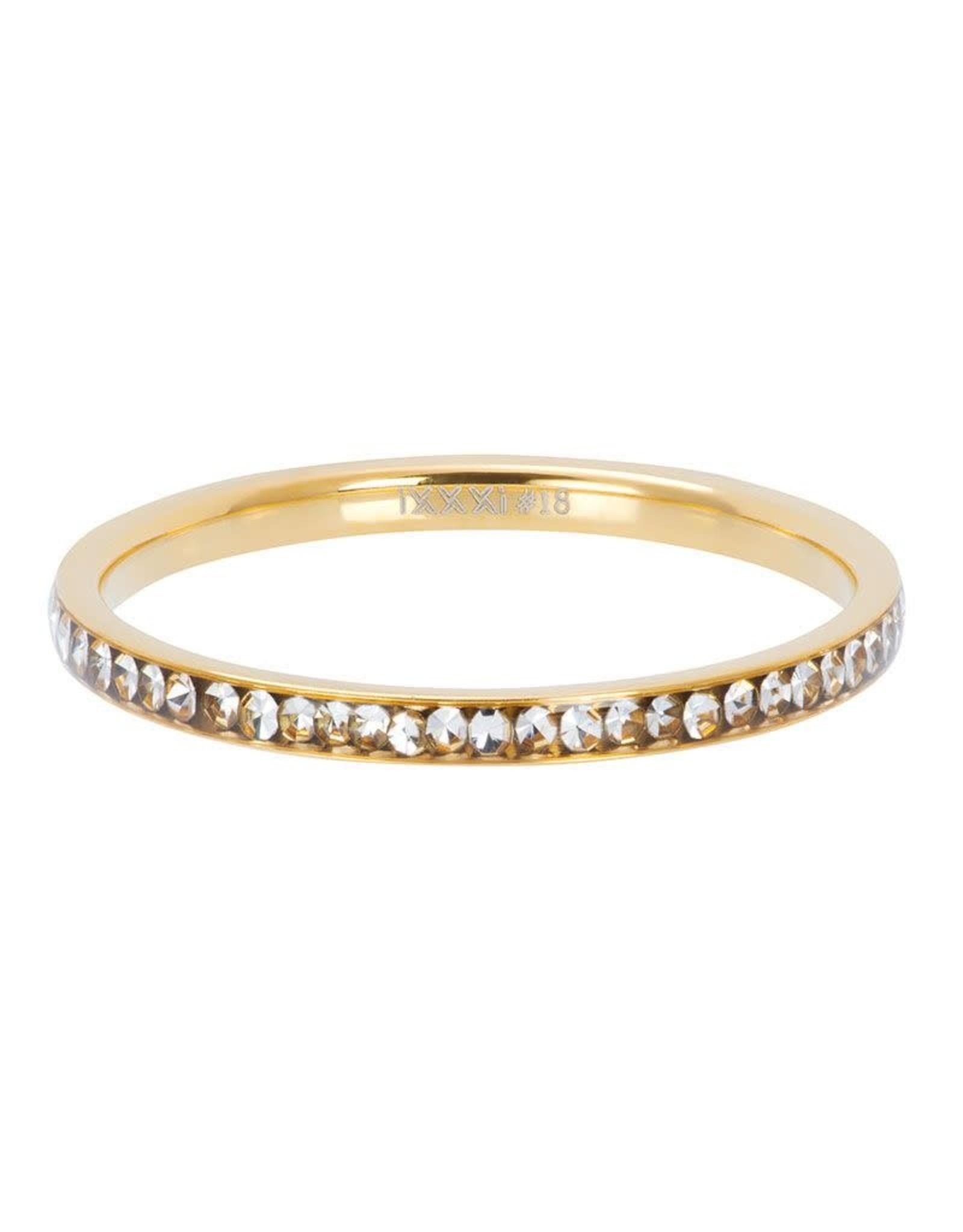 IXXXI IXXXI Zirconia Crystal ring Gold