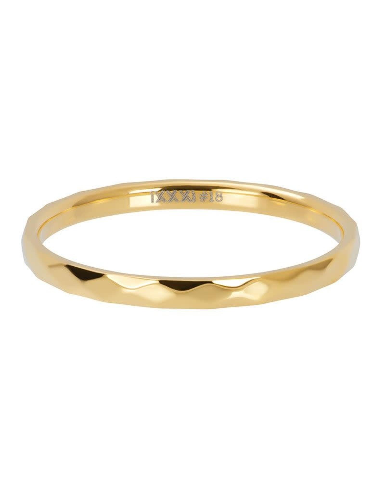 IXXXI IXXXI Hammerite ring Gold