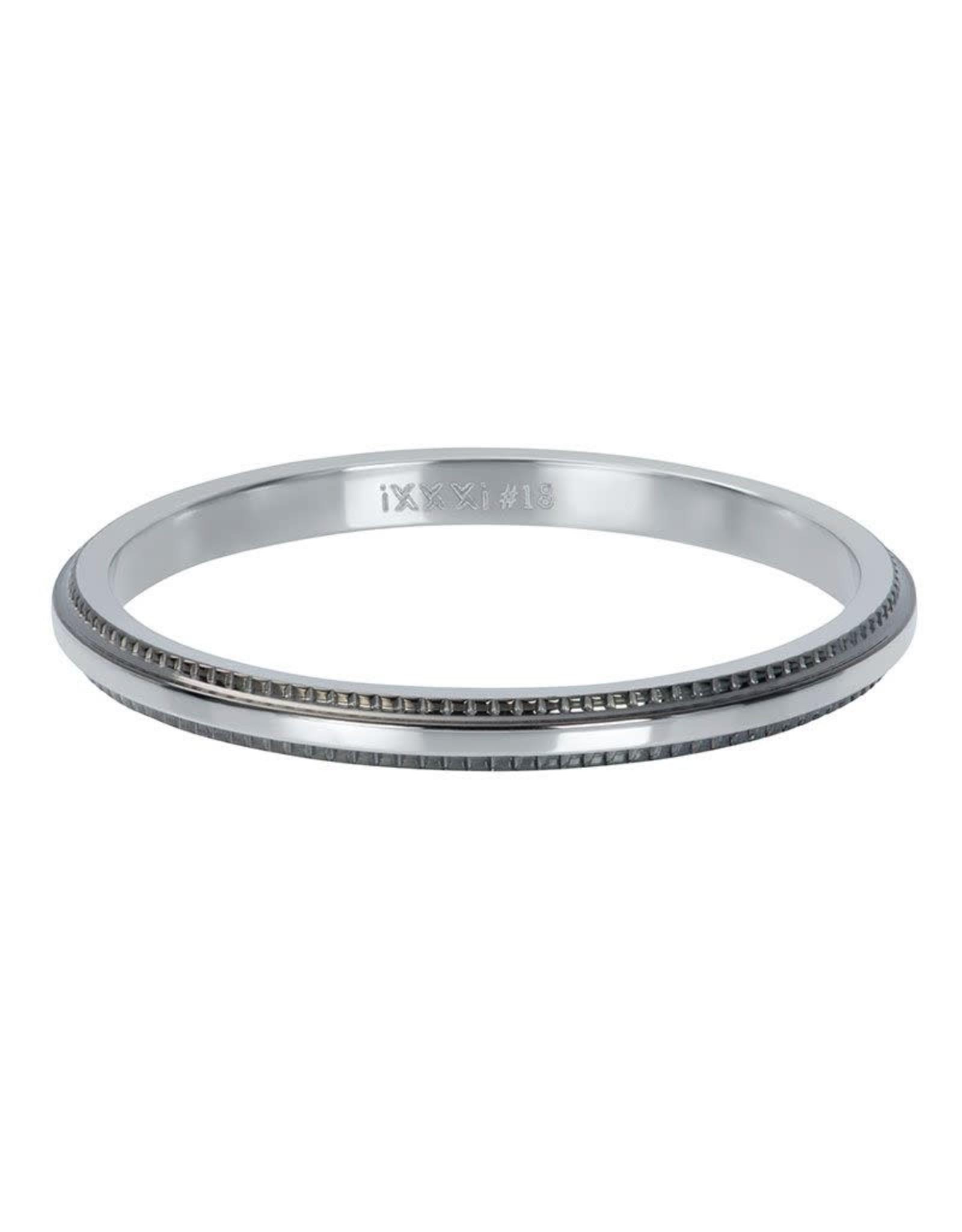 IXXXI IXXXI Double Gear ring Silver/Black