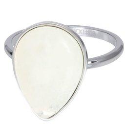 IXXXI IXXXI Royal Stone Drop ring White