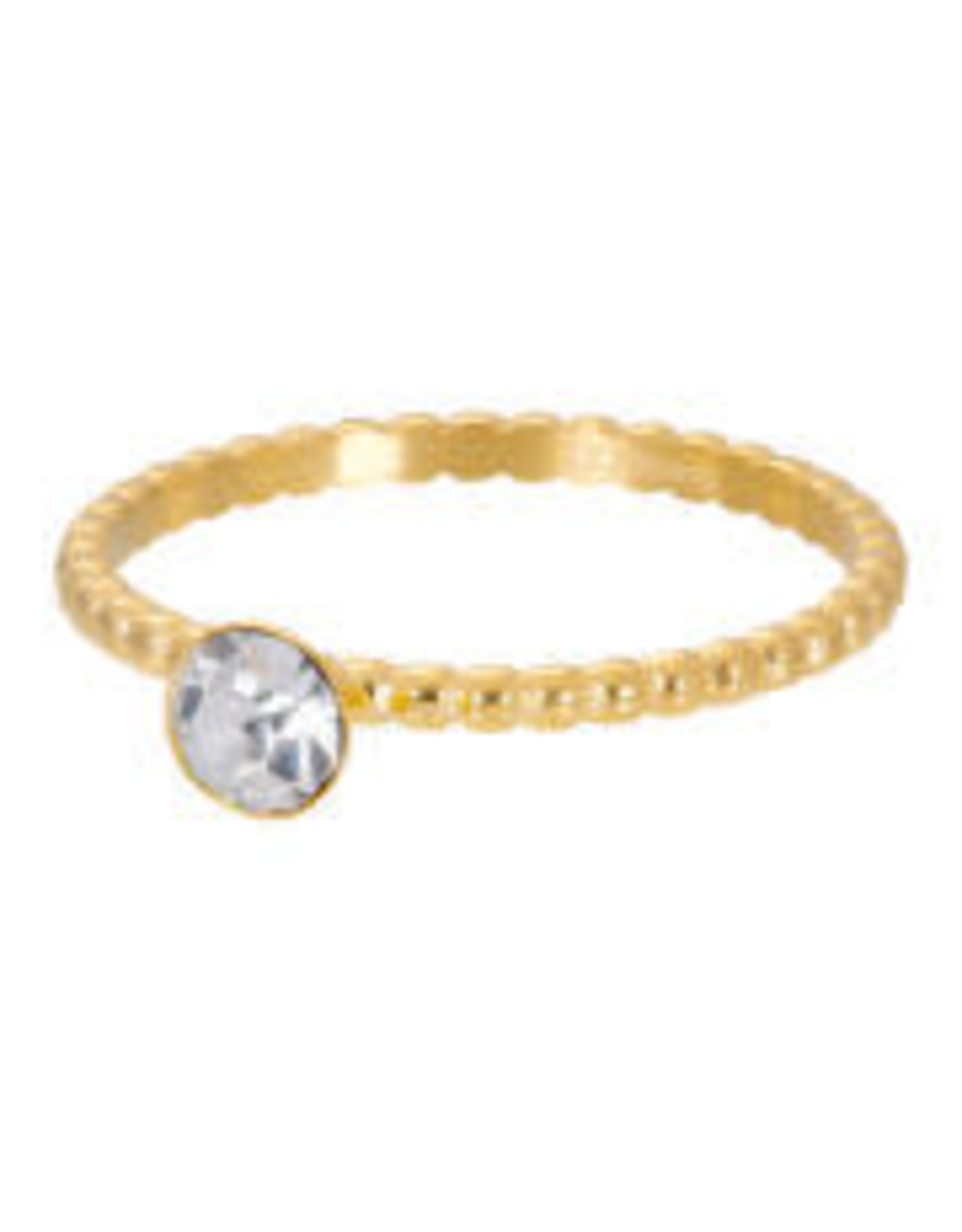 IXXXI IXXXI Ball With Crystal Stone ring Gold